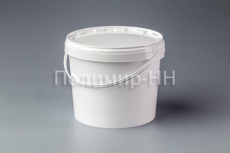 Пластиковое ведро с пластиковой ручкой 11,8